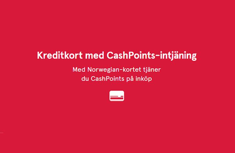 Tjäna CashPoints med Bank Norwegian kreditkort