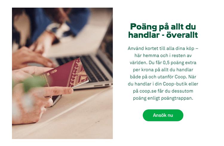 Bonuspoäng med Coop Mastercard Mer