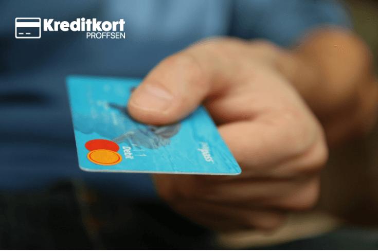 Svenskt kreditkort används i butik