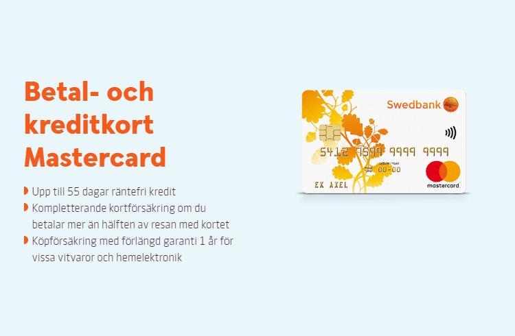 Swedbank Kreditkort funktioner