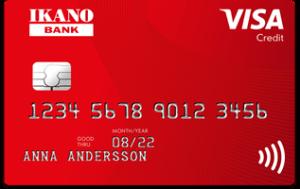 Iknano kort kreditkort