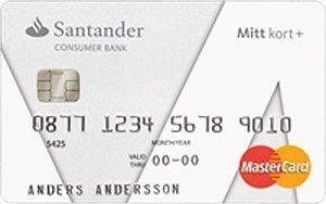 Santander mitt kort plus kreditkort