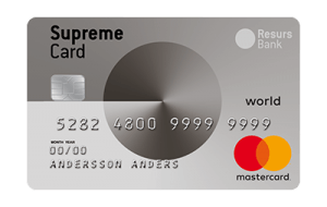 Supreme Card World Kreditkort